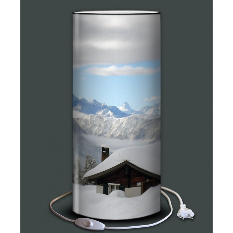 lampe personnalis e montagne. Black Bedroom Furniture Sets. Home Design Ideas